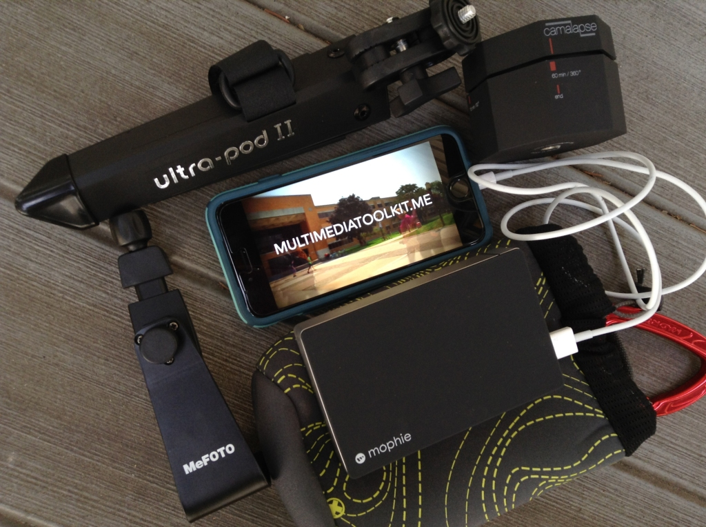 Portable iPhone kit for shooting timelapse with iPhone
