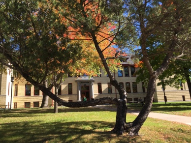 Riverview, built in 1911, houses the English department offices and classrooms along with foreign language laboratories. Known for ghost stories and bats. Photo by Jannet Walsh