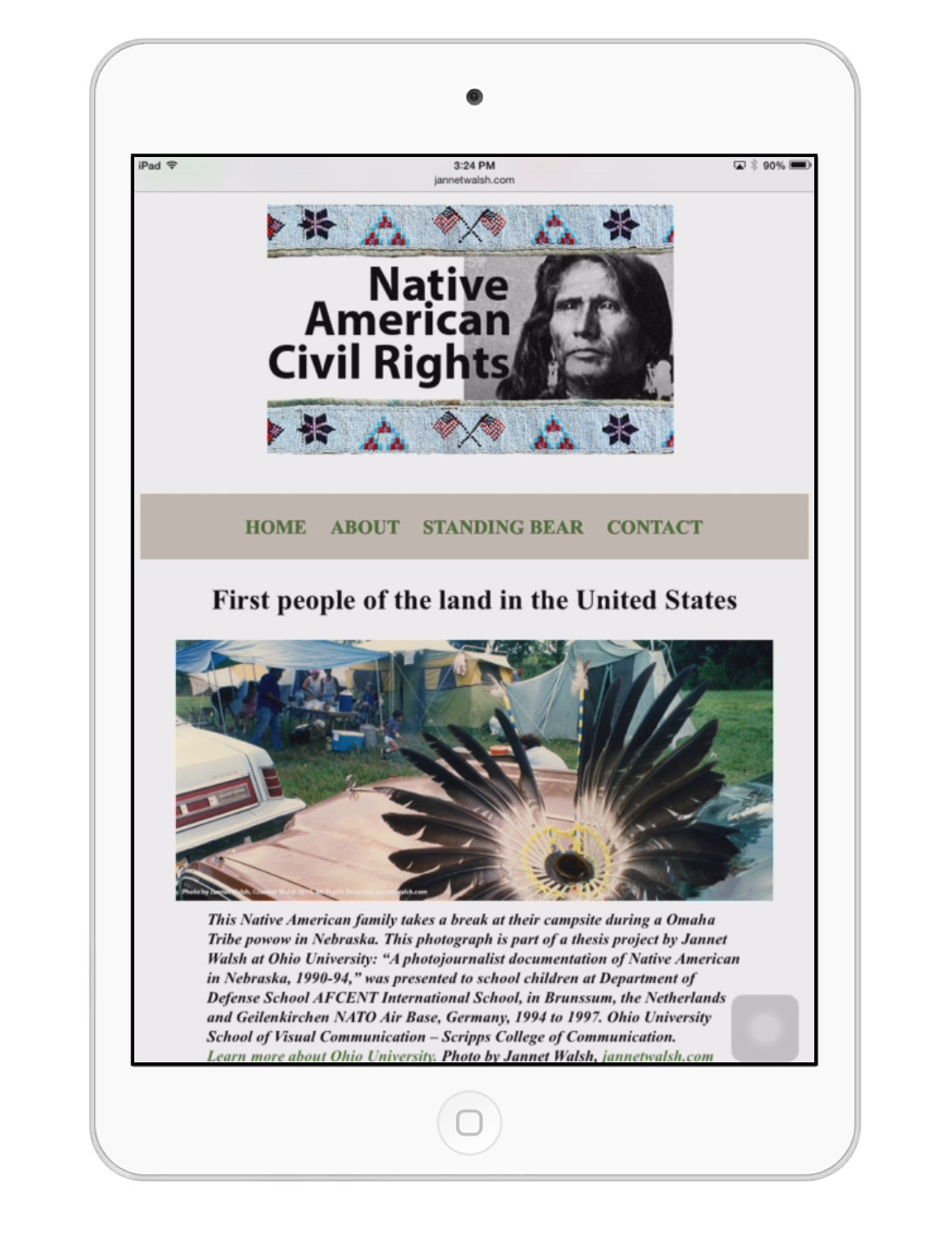 Native American Civil Rights website