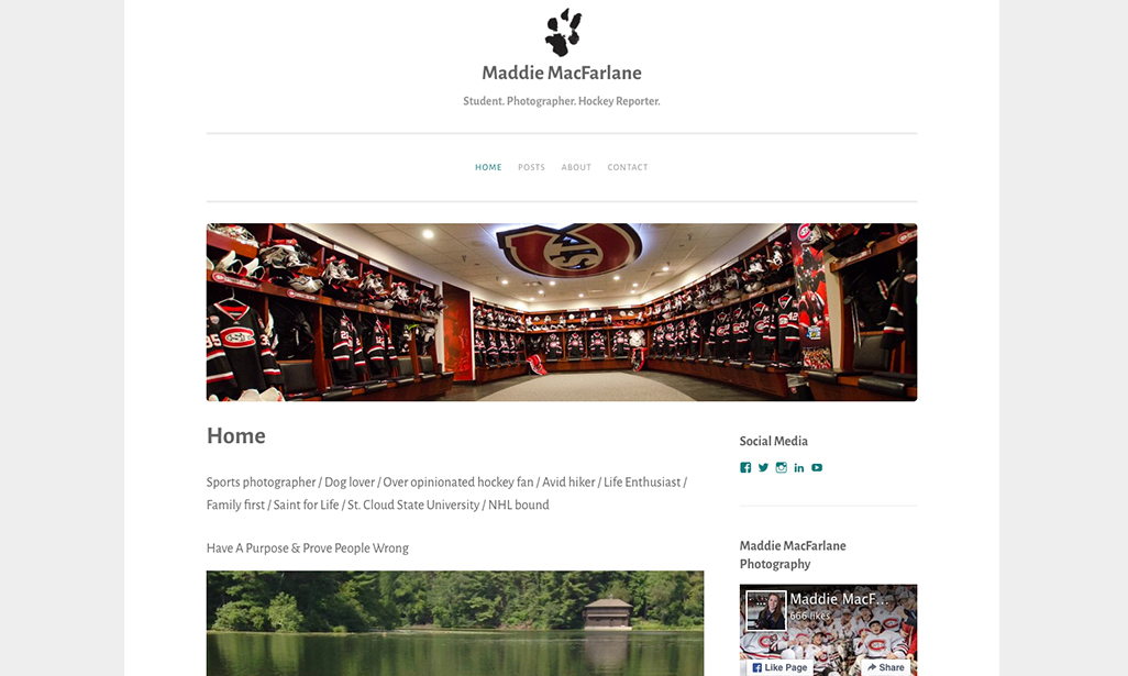 Visit WordPress site by Maddie MacFarlane, Student at St. Cloud State University