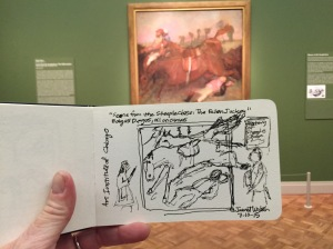 Here's a sketch I did during a visit in 2015 to The Art Institute of Chicago. Photo by Jannet Walsh.