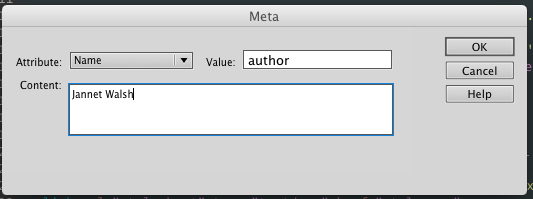 author metadata